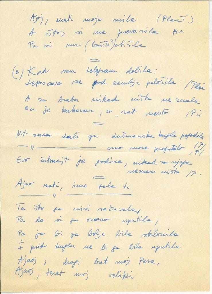 Sirató kézirata, Magyarcsanád