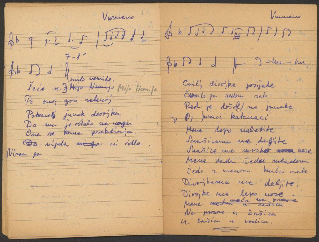 Šeće se Mijo Nemijo – húsvéti ének és kolo kézirata