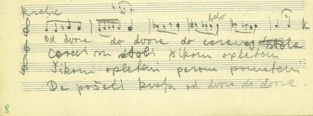 kraljice ének kézirata, kromatikus hangsorral