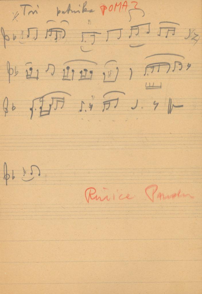 Tri putnika putem putovaše, u šesnaestinama – 16-odos elbeszélő ének kézirata, Pomáz