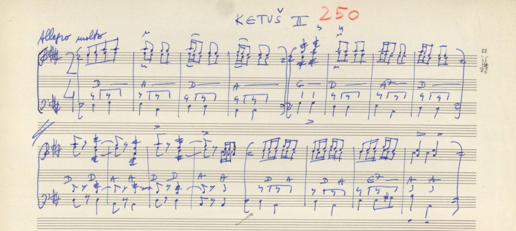 táncdallam lejegyzés kézirata, Ketus, tamburazenekar