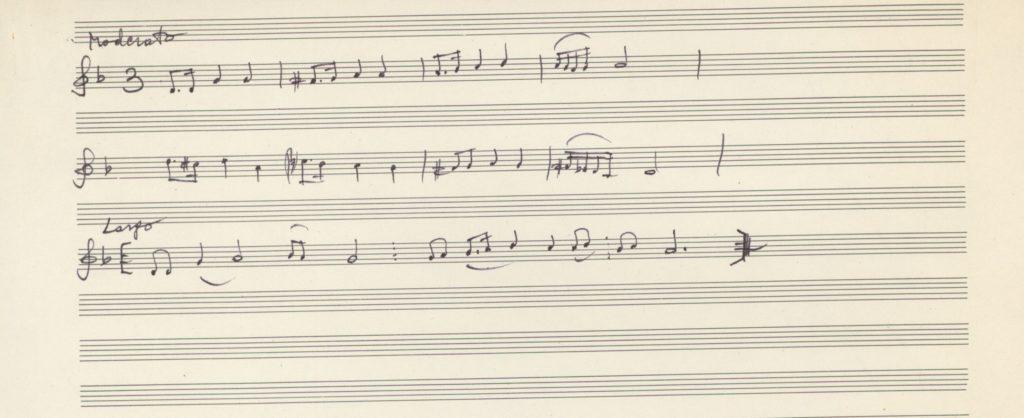 Lepo peva ptica mala – városi ének szövegének kézirata